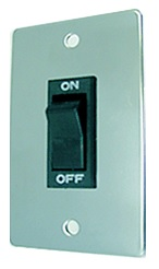 (10158) WALL SWITCH WITH MINI CHROME PLATE
