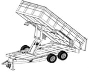 Trailer Plans Blueprints together with 1325 Grain Carts in addition 4500 Coupler Safety Pin besides Garden Cart Axle Kit moreover Trailer Plans Blueprints. on tandem axle dump cart