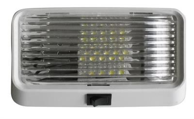50970 - LED PORCH LIGHT WITH CLEAR LENS AND SWITCH