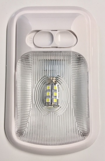 20669-LED EURO STYLE SINGLE LIGHT WITH CLEAR LENS - BRIGHT WHITE
