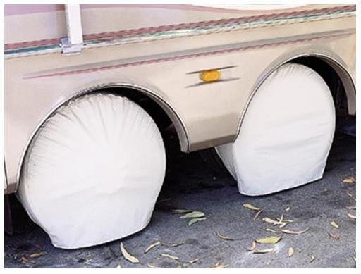 TYRE GARD SLIP OVER TIRE COVERS - WHITE