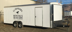 (R24) 8.5' x 24' TANDEM AXLE ENCLOSED AUTO HAULER