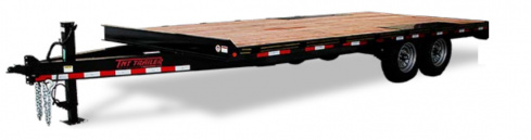 (R6) 8.5' X 16' TANDEM AXLE DECKOVER FLATBED TRAILER