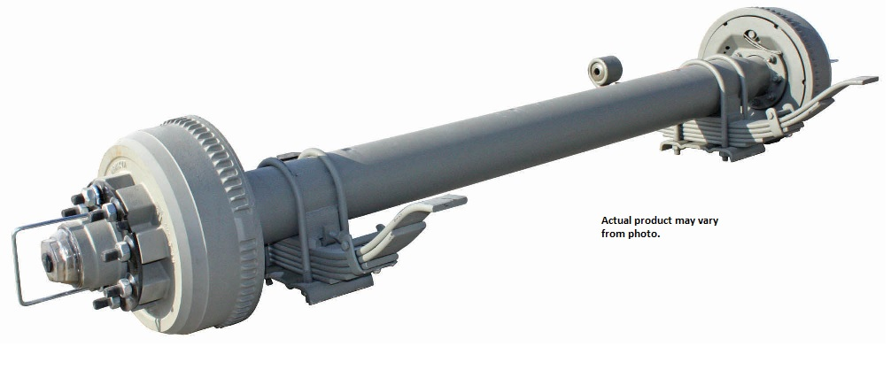 9,000 LB. LEAF SPRING ROUND TUBE AXLES