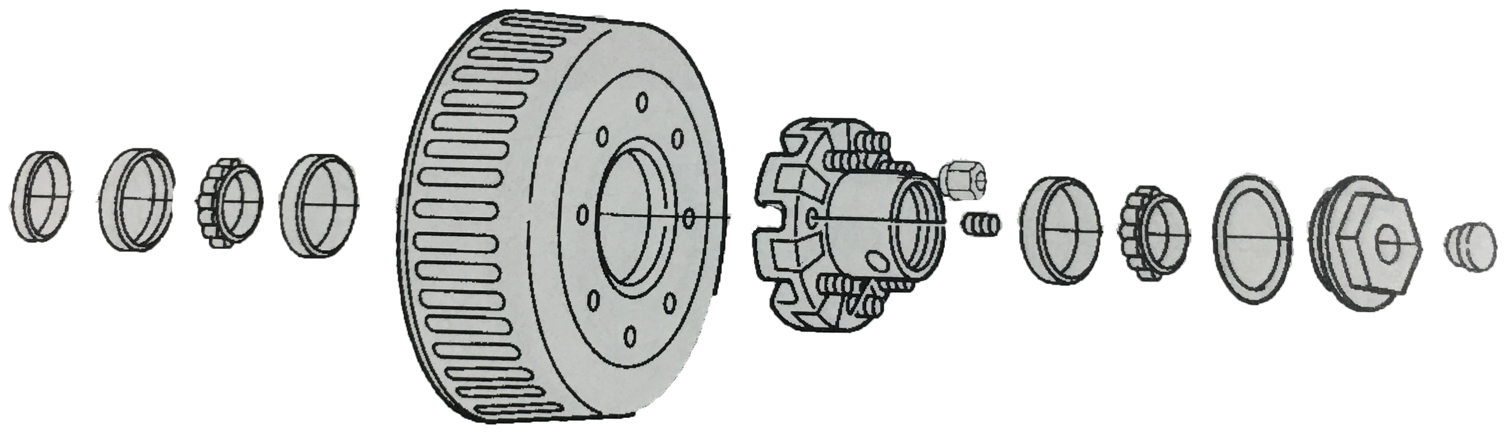 Dexter 10K heavy duty hub and drum for 12 1/4