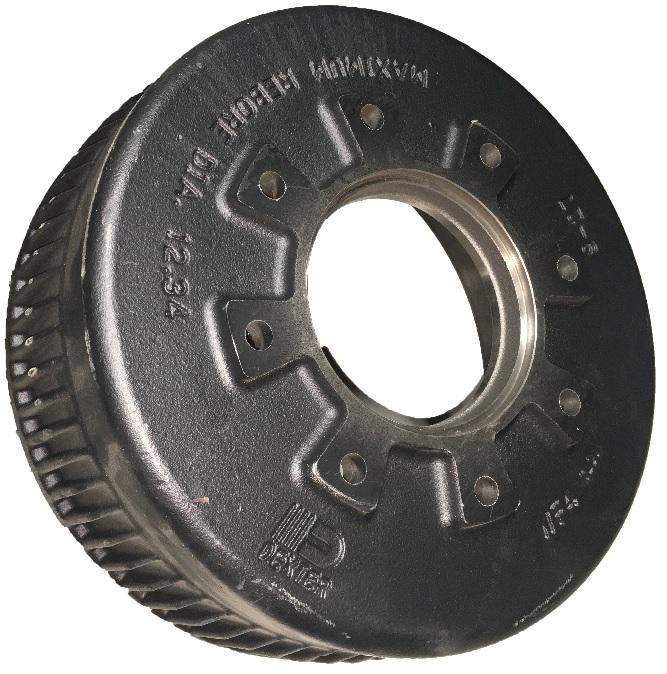 Replacement brake drum for Dexter 10K heavy duty 12 1/4