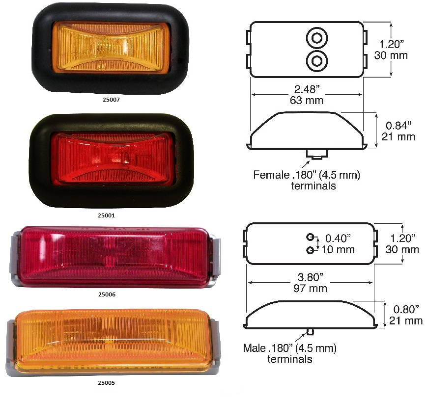 Peterson Sealed Clearance Marker Lights