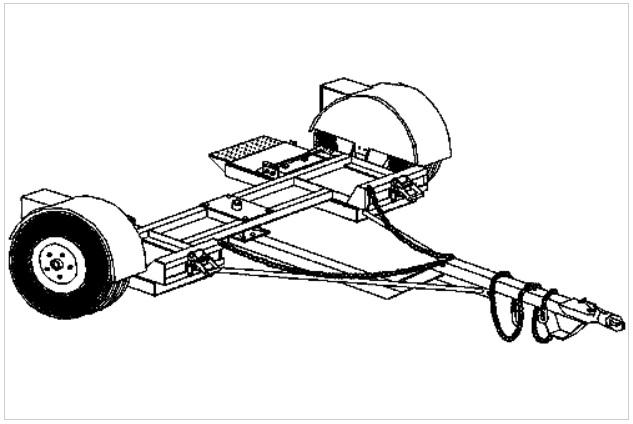 Heavy duty car dolly trailer plan