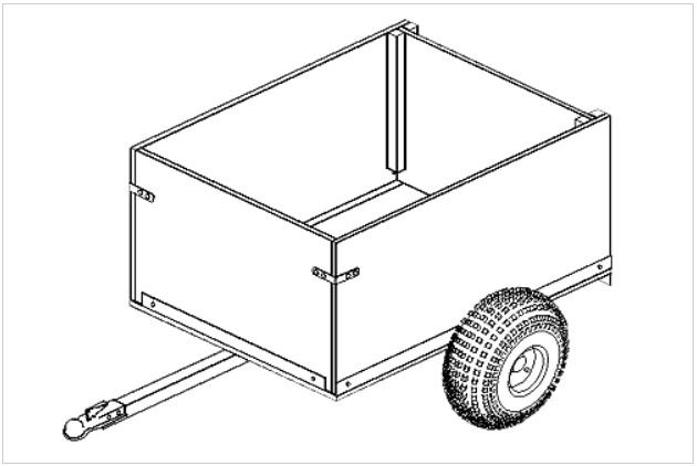 3' x 4' Off-road utility cart trailer plans