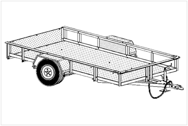 5' x 10' Bolt Together Utility Trailer Plans