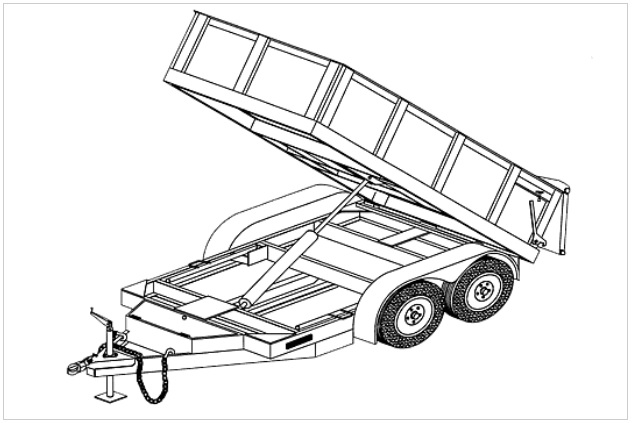 5' x 10' Hydraulic Dump Bed Trailer Plan