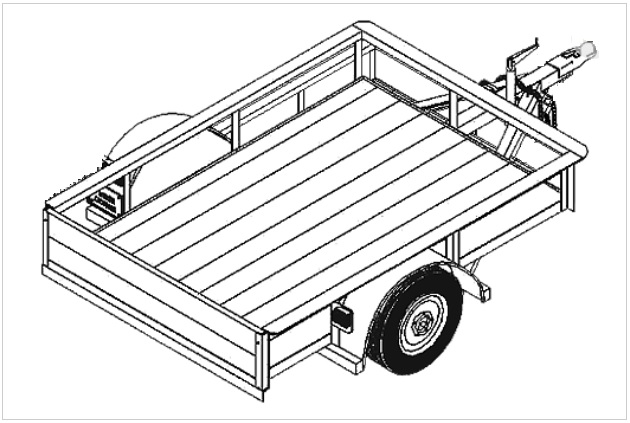 4' x 8' Flatbed Utility Trailer Plans