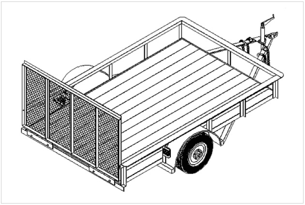 6' x 10' flatbed utility trailer plans.