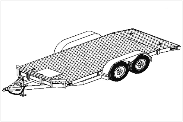 18' flatbed car carrier trailer plans