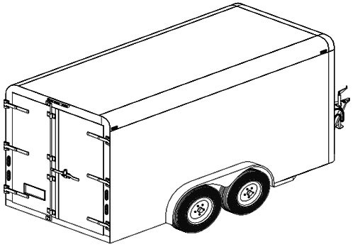 12' enclosed cargo trailer plan