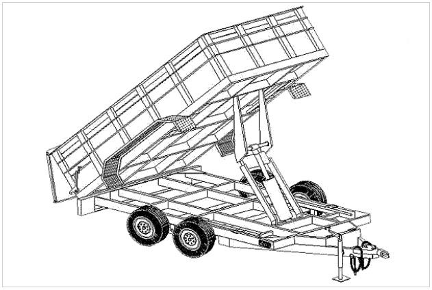 12hd  6 u0026 39 4 u0026quot  x 12 u0026 39  hydraulic dump trailer plans
