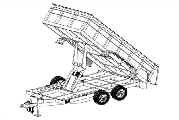 14hd 6 4 Quot X 14 Hydraulic Dump Trailer Plans