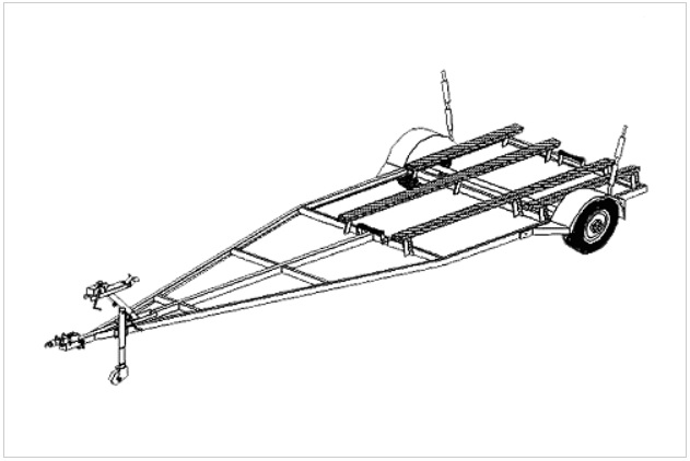 16fb  boat trailer plans  variable length