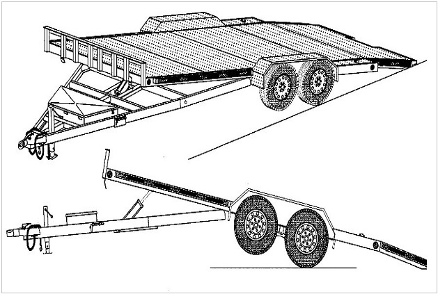 car trailer blueprint