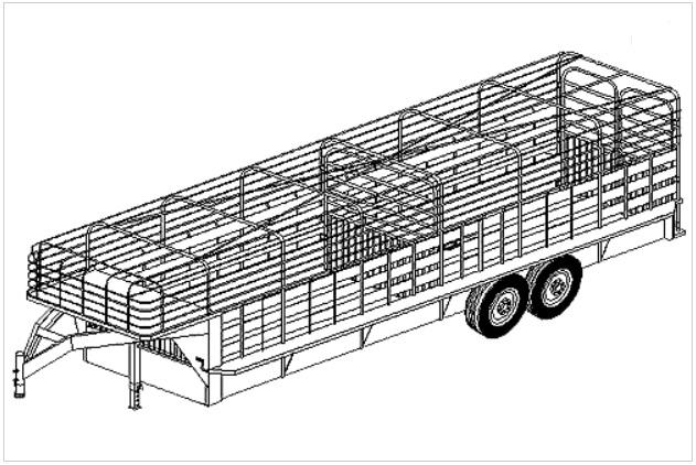 3224  6 u0026 39  x 24 u0026 39  livestock gooseneck trailer plans