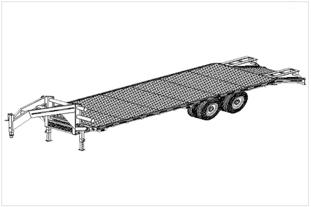 25' gooseneck flatbed deck over trailer plans