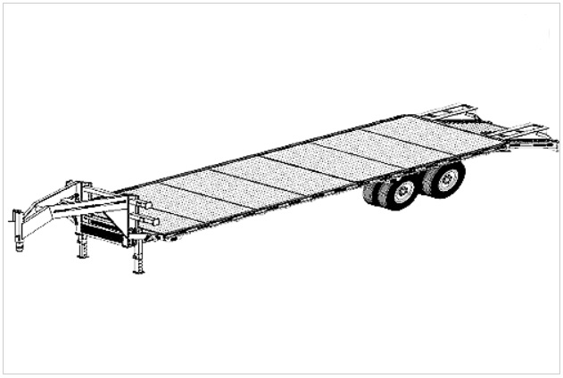 32' flat deck gooseneck trailer plans