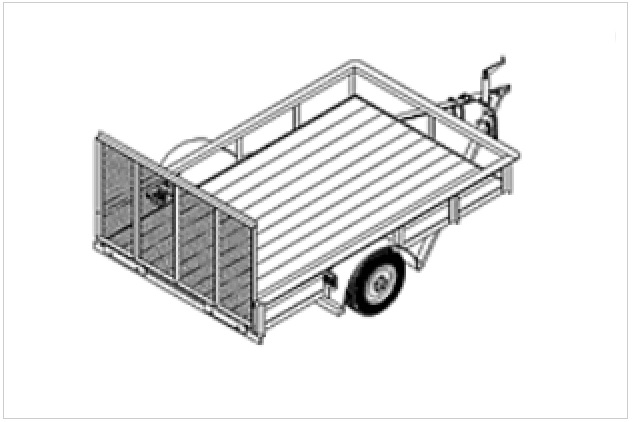 5' x 8' flatbed utility trailer plans