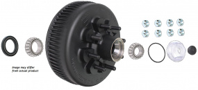 Complete hub and drum assembly for Dexter old style 9,000 lb axles.