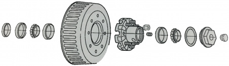 Dexter 10K heavy duty hub and drum assembly