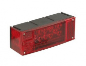 Rectangular low profile LED stop, turn, and tail light