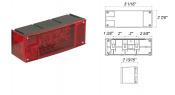 Rectangular low profile marine LED stop, turn, and tail light