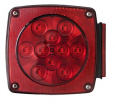 LED square stop, turn, and tail light.