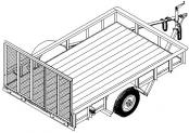 10' utility flatbed trailer plan