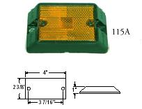 RECTANGULAR CLEARANCE/SIDEMARKER LIGHT REFLECTOR SURFACE MOUNT