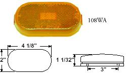 OBLONG CLEARANCE/SIDEMARKER LIGHT/REFLECTOR