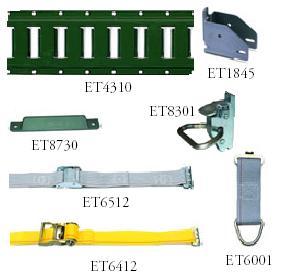 E-track and cargo control accessories