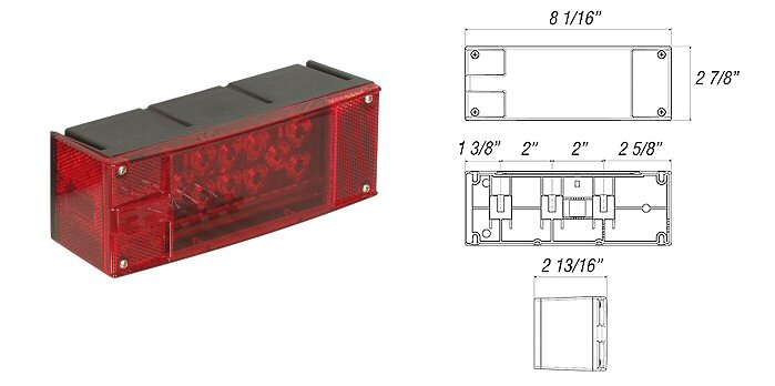 LED Low Profile Right Hand Trailer Tail Light